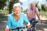 Fototapety Senior couple on country bike ride