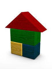 color house toy