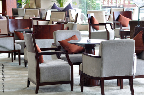 Luxury hotel lounge area