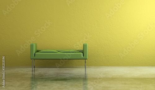 Wohndesign - Sitzbank gelb