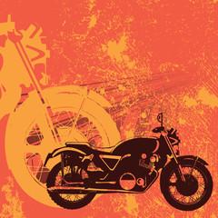 Motorbike grungy background vector