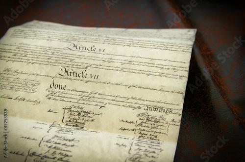 Replica of the United States Constitution