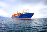 commercial container ship
