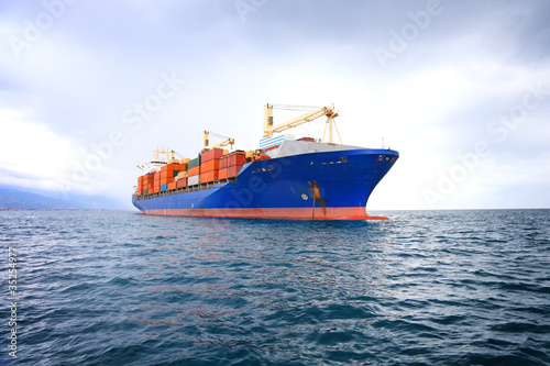 commercial container ship - 35254977