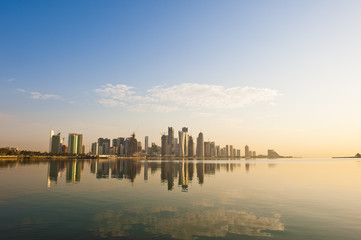 Doha Skyline early morning
