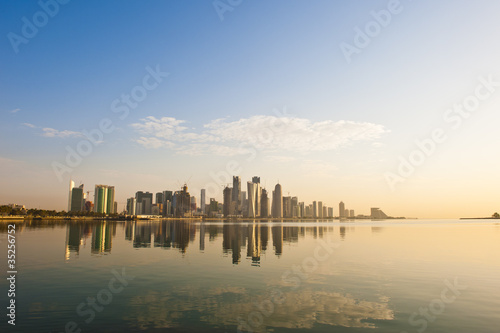 Doha Skyline early morning