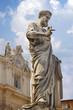 Statue of Saint Peter in Vatican.  Italy