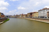 Pisa: the Arno river poster