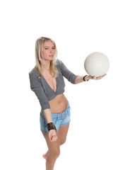 Blonde plays Ball