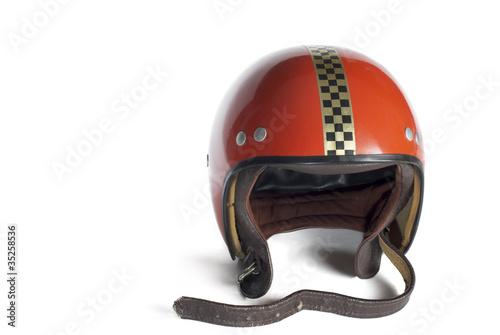 Fotobehang Motorsport Buggy Helm 70´s