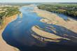 canvas print picture - Photo aérienne de Montsoreau sur Loire 49