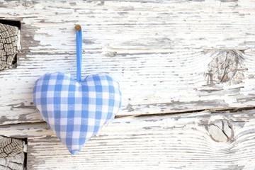 Blauweißes Herz