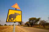 Beware of elephants poster