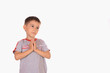 The boy prays