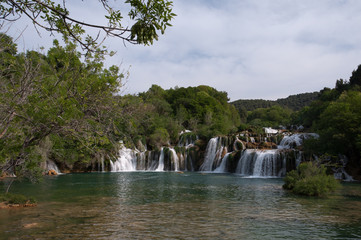 Waterfalls on the river Krka