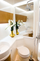 bathroom in yacht
