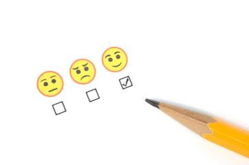 Pencil and emoticon