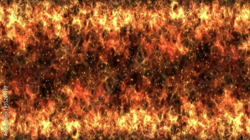 Wall Flame Transition 1, with Alpha Channel - HD1080