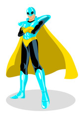 Stock vector of a superhero with with spacesuit