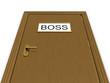 Door to boss office. 3d illustration