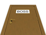 Door to boss office. 3d illustration