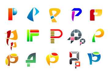 Symbols of letter P