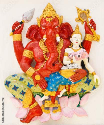 Indian or Hindu ganesha God Named Sankatahara Ganapati at temple