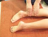 reflexology leg massage,Thai traditional massage,Thailand. poster