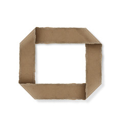 origami style alphabet letters o