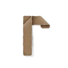 origami style alphabet letters r