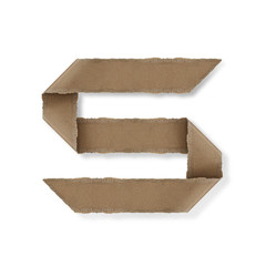 origami style alphabet letters s
