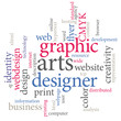 Graphic designer word tags.