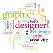 Graphic designer word cloud.