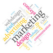 Marketing word cloud.