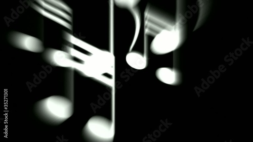 Music Notes and treble clef.80:abstract,flying,flat,ambient