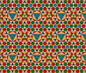 mosaico hexagonal bizantino