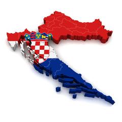3D Map of Croatia