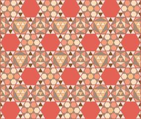 mosaico hexagonal teja