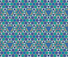 mosaico azul hexagonal