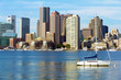 Skyline of Boston in Massachusetts, USA