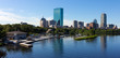 Aerial Panorama of Boston in Massachusetts, USA.