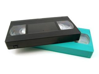 Кассеты для видеомагнитофона на белом фон