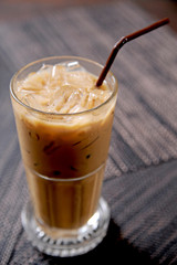 cold fresh ice coffee