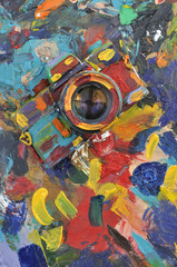 art painted camera