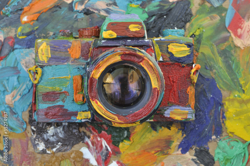 colorful photograph camera