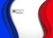 Drapeau français, abstraite # Vecteur