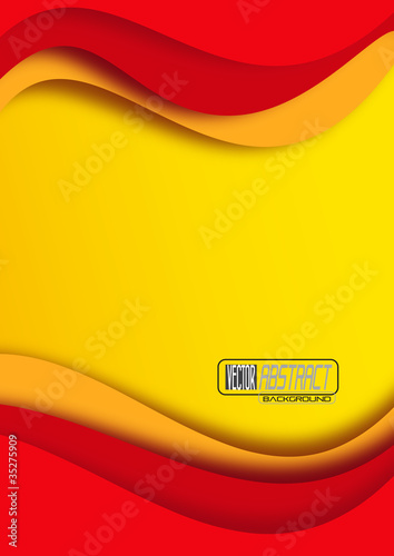 Bandera española, abstracto # Vector