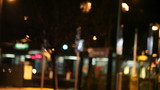 train station at night defocused