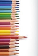 Lápices de colores , rojo destaca