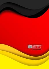 Deutsch Flagge, abstrakt # Vektor